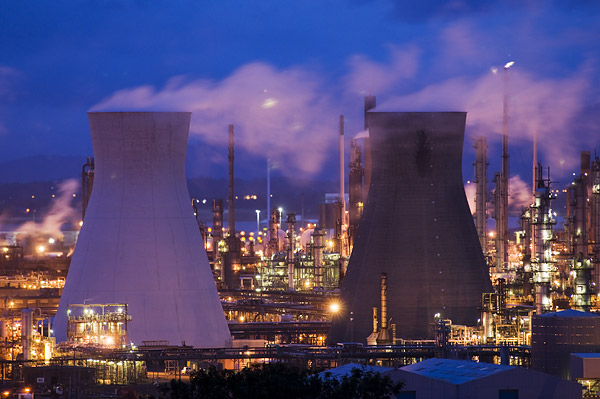 oil refinery at Grangemouth Forth Valley