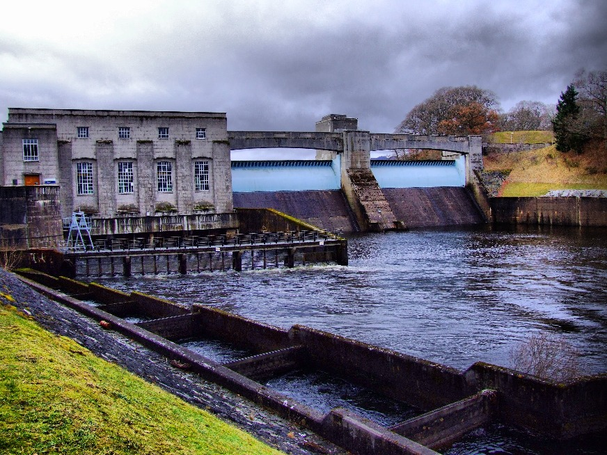 Hydropower station at Pitlochry