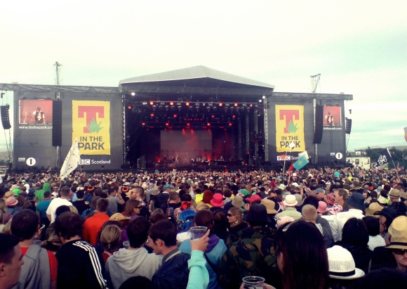 T in the Park Festival main stage